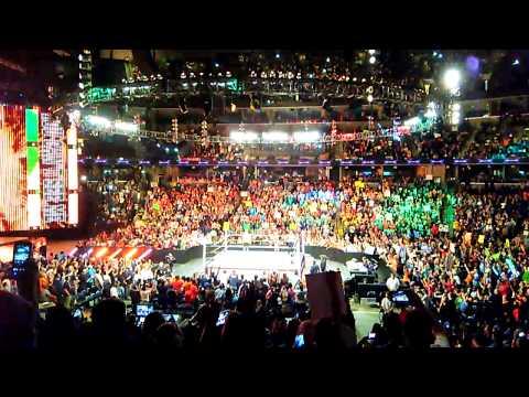 John Cena vs. Sheamus now!  WWE RAW Memphis FedExForum 2015