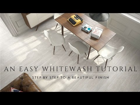 How to Whitewash and Seal a Wood Floor. DIY Steps. Milk pain
