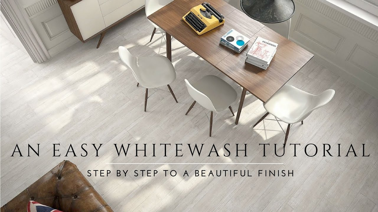 How To Whitewash And Seal A Wood Floor. DIY Steps. Milk Paint, Lime Wash,  Antique Look   YouTube