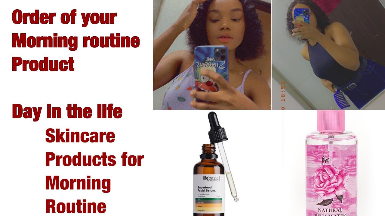 #vlog HOW TO APPLY YOUR MORNING ROUTINE PRODUCTS|DAY IN MY LIFE| #skincare #vlog #morningroutine