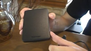 Toshiba Canvio Basics 500GB - Unboxing & Hands On