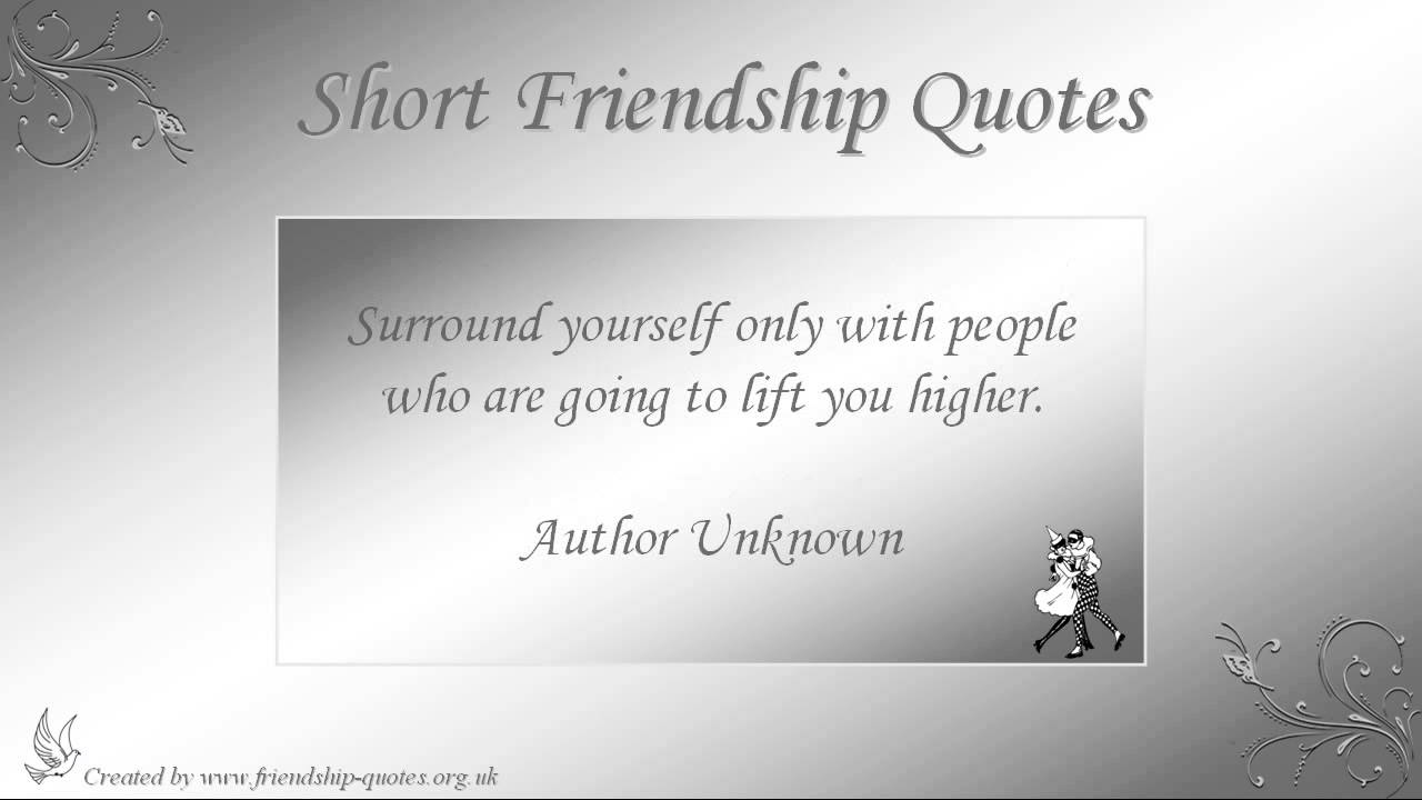 Short Friendship Quotes - YouTube