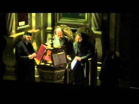 Nighttime chanting in the Church of the Holy Sepulchre