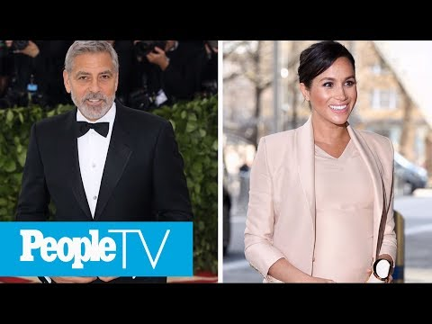 George Clooney Comes To Meghan Markle's Defense, Comparing Her Plight To Princess Diana's | PeopleTV