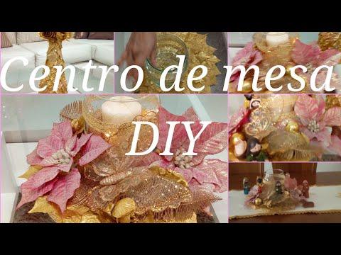 Centro de mesa navideño, manualidades 2018 DIY.