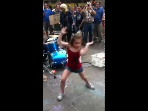 Girl Dancing in Drum Circle at Occupy Wall Street