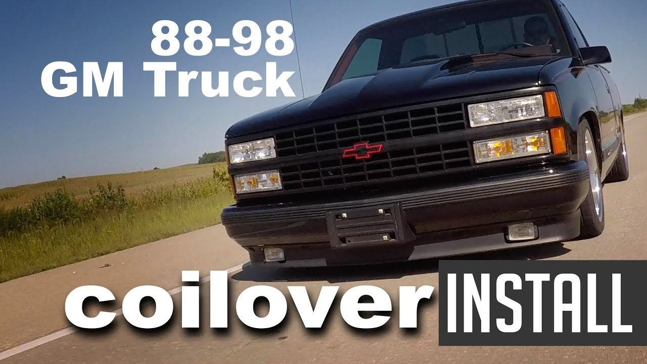 88-98 Chevy C1500 Ridetech Coilover Install - Lowered Performance Suspension