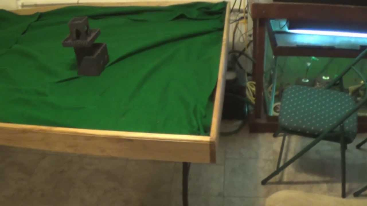 How I Built My Gaming Table YouTube - Cheap board game table