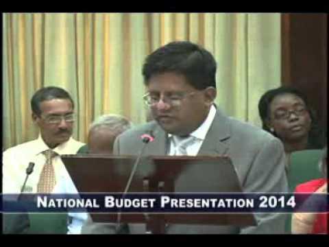 Presentation of the 2014 Budget by Min Finance Dr Ashni Singh