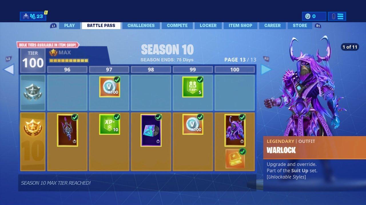 New Season 10 Battle Pass Leaked Fortnite Season 10 Battle Pass Skins Items Unlocks Season 10