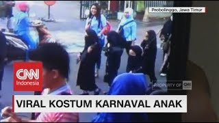 Download Video Viral Kostum Siswi PAUD Hitam &  Bercadar di Karnaval Anak dii Probolinggo MP3 3GP MP4