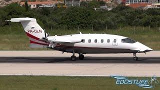 Rare & Close-up Piaggio P-180 Avanti II PH-DLN - Landing at Split Airport LDSP/SPU