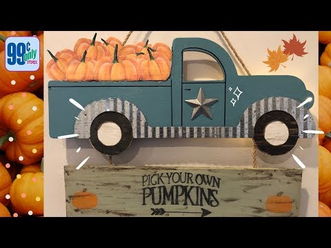 Fall Blue Truck DIY | 99 Cent Store