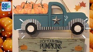 Fall Blue Truck DIY   99 Cent Store
