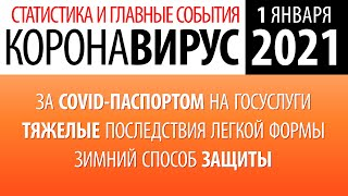 1 января 2021 статистика коронавируса в России в первый день Нового года