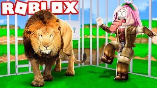 DON'T GET INTO THE LION'S CAGE!! - ROBLOX