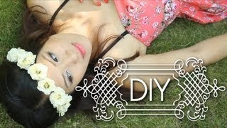 DIY Cute Boho Flower Crowns Headband - Summer Music festival {How to }