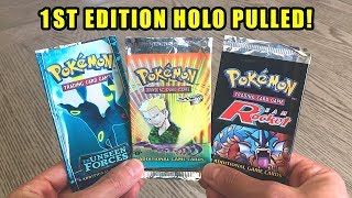 *I PULLED A 1ST EDITION HOLO POKEMON CARD!* Opening RARE Vintage Booster Packs of Pokemon Cards!