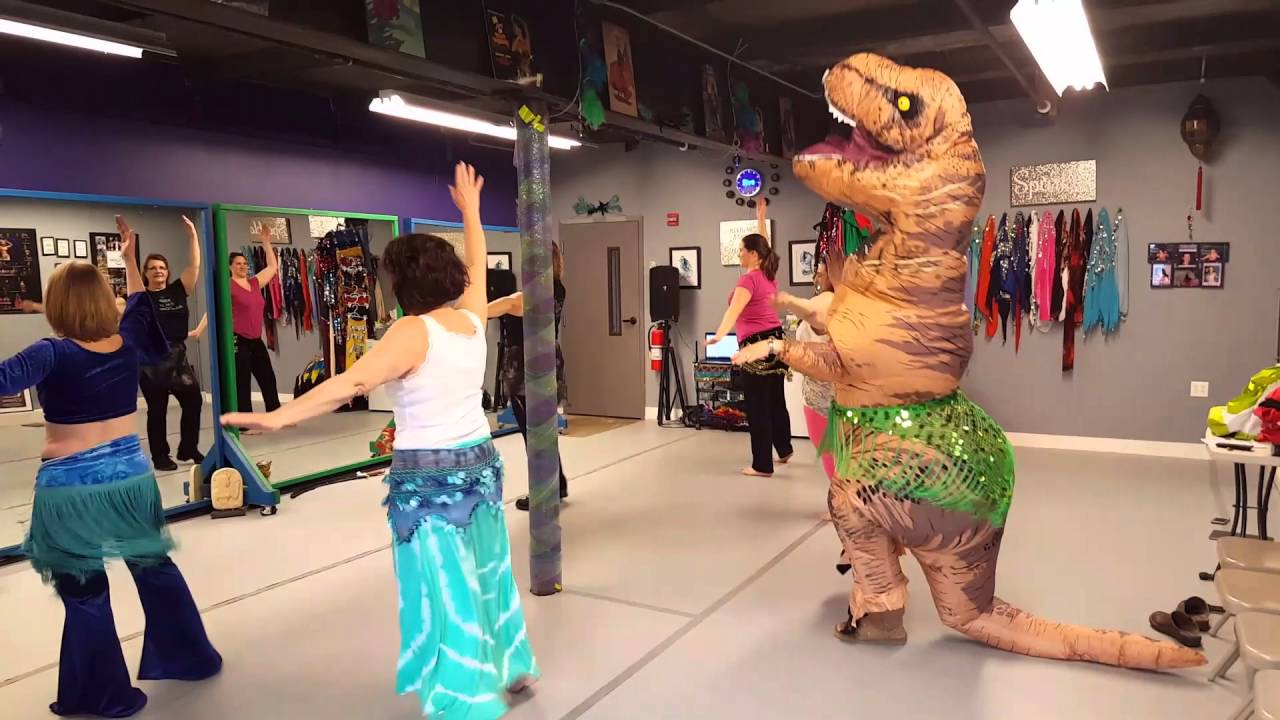 maxresdefault roxy the t rex's rex's visit to raq on dance studio for belly
