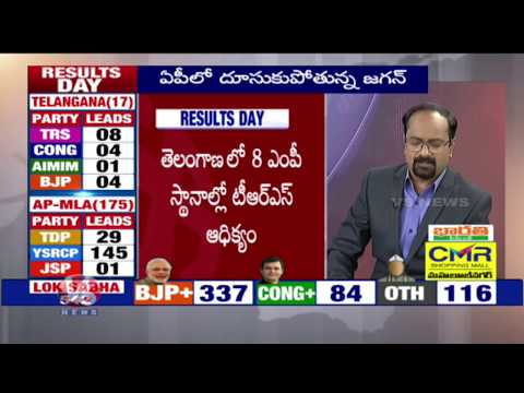 Election Results 2019 | Congress Leads In 4 Places | V6 News