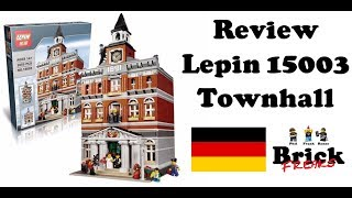 Review Lepin 15003 - Townhall