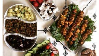 وجبة متكاملة????????قطبان بطريقة صحية اقتصادية وسريعة مرافقة بسلطات سريعة (رمضان2019)