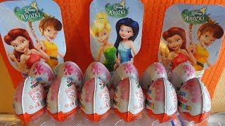 2014 Fairies Kinder Surprise Eggs 12 Toys to Collect Unboxing Xmas