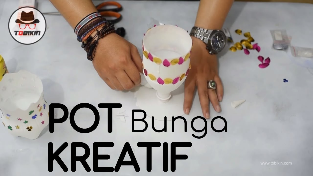 Membuat Pot Bunga Dari Botol Bekas Pot Bunga Kreatif Youtube