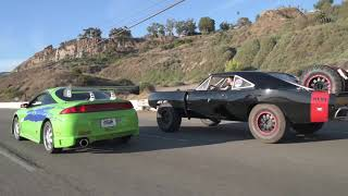 One Last Ride - Paul Walker Mitsubishi Eclipse vs screen used Vin Diesel Offroad Charger