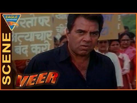 Veer Movie || Mukesh Khanna Act Like Physically Challenged || Dharmendra || Eagle Hindi Movies