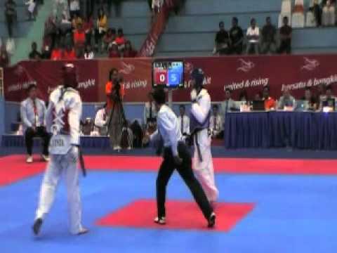 Philippines Vs Malaysia - 26th  SEA Games Taekwondo  - Under 58 Kg Me