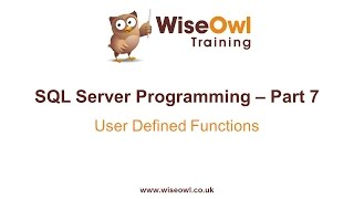 sql server programming part 7 user defined functions