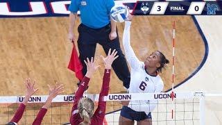 UConn Volleyball vs. Memphis Highlights