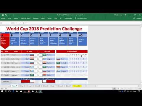 World cup score predictor game template
