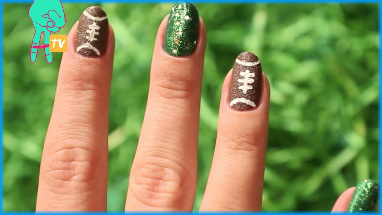 - Pretty Football Nail Art! Nail Pop Ep. 13 - YouTube