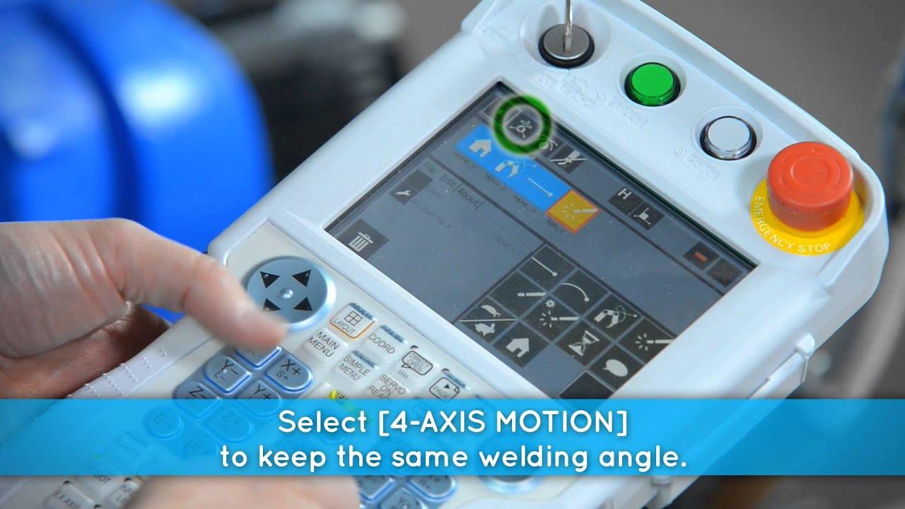 how to teach a linear welding path to a welding robot kinetiq rh youtube com motoman dx100 basic programming manual pdf motoman dx100 advanced programming manual