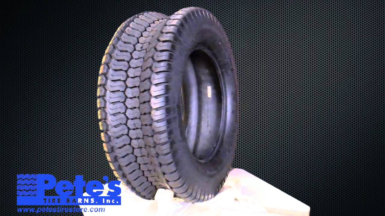 Greenball s374 lawn tractor tire 4 ply youtube - Garden tractor tires 23x10 50 12 ...