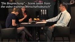 """Business German / Wirtschaftsdeutsch : """"The Meeting / Die Besprechung"""" by LinguaTV.com"""