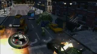 The Incredible Hulk Xbox 360 Gameplay - Jumping the Streets