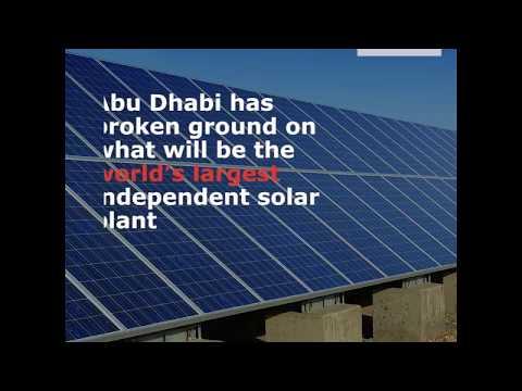 Abu Dhabi breaks ground on world's largest solar plant