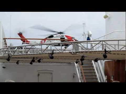 Sikorsky MH-60T, United States Coast Guard, Oosterdam, Holland America Cruise Line, Pacific Ocean