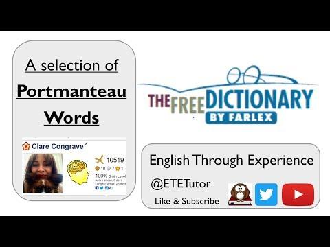 Free Dictionary Friday - Portmanteau Words! - Great for GCSE English Language & Literature!