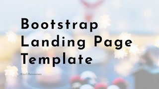 Bootstrap Landing Page Template - Free HTML Website Templates