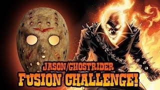 How to Draw Jason + Ghostrider Fusion | ART CHALLENGE