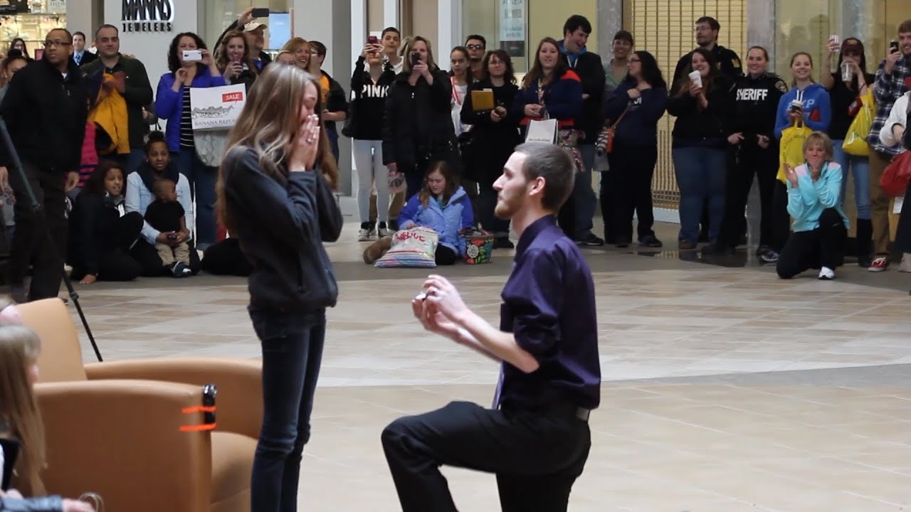 Casey & Meg Marriage Proposal Flash Mob - Eastview Mall ...