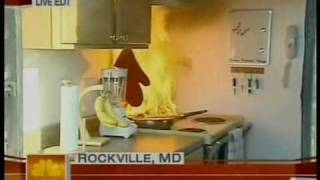 NBC TODAY Show: Kitchen Fire Safety, Apr. 23, 2007(Most home fires begin in the kitchen, and Home Safety Council President Meri-K Appy demonstrates how quickly a kitchen fire can get out of control. With a live ..., 2009-06-01T22:04:21.000Z)