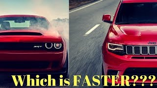 The Jeep Trackhawk is Technically Faster Than a Dodge Demon??? 😂😂😂