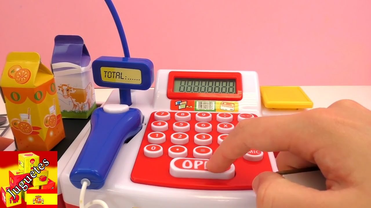 Download caja registradora de juguete - Caja registradora con escáner