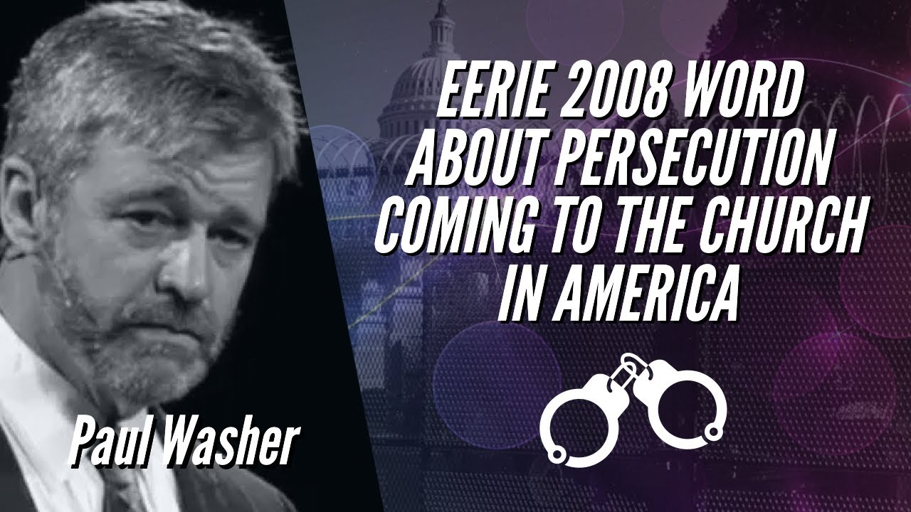 EERIE 2008 WORD ABOUT PERSECUTION COMING TO THE CHURCH IN AMERICA