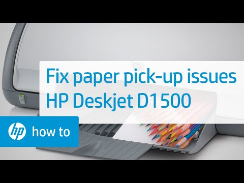 Fixing Paper Pick-Up Issues | HP Deskjet D1500 Printer | HP